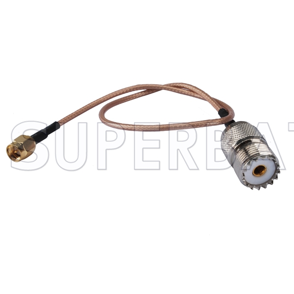 coaxial uhf female so239 to sma male coax connector jumper rg316 Antenna Wire Connectors rf coaxial uhf female so239 to sma male coax connector jumper rg316 extension cable ham radio antenna wire antenna wire connectors